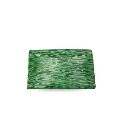 pochette kirigami cluth green